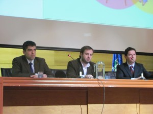 Juan Pablo Morales Montecinos (Pol. Farmaceuticas), José Luis Cárdenas (L.Chile) y Pablo Santa Cruz (Medicos sin marca)
