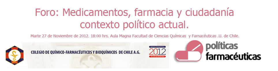 Foro: medicamentos, farmacia y ciudadanía. 27 Nov.
