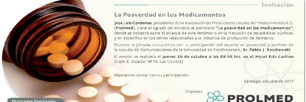 Seminario «La posverdad en los medicamentos» 26.10.2017